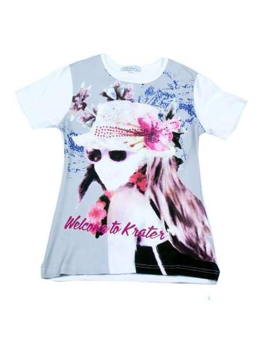 Ropa para bebe Camiseta manga corta chica con sombrero
