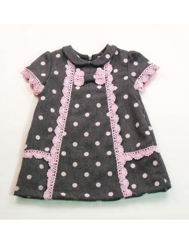 Ropa para bebe Vestido lunares niña