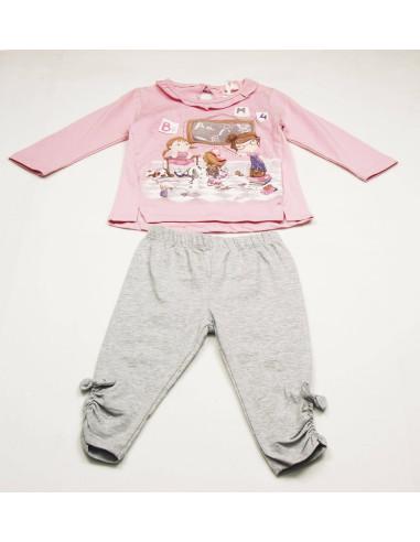 Comprar ropa bebe Conjunto manga larga fino bebé niña