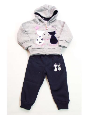 Comprar ropa bebe Chandal gatos bebé niña