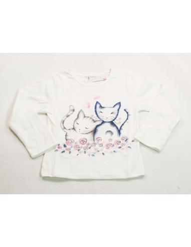 Camiseta gatitos bebé niña