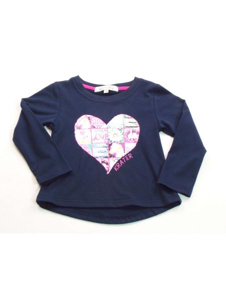 Comprar ropa bebe Camiseta corazón niña