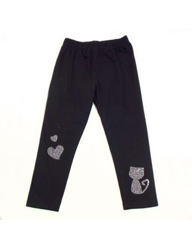 Comprar ropa bebe Leggings corazones gato niña