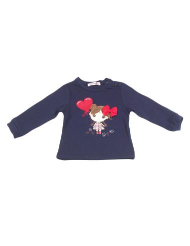 Comprar ropa bebe Camiseta manga larga dibujo bebé niña