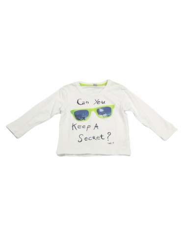 Ropa para bebe Camiseta manga larga gafas bebé niño