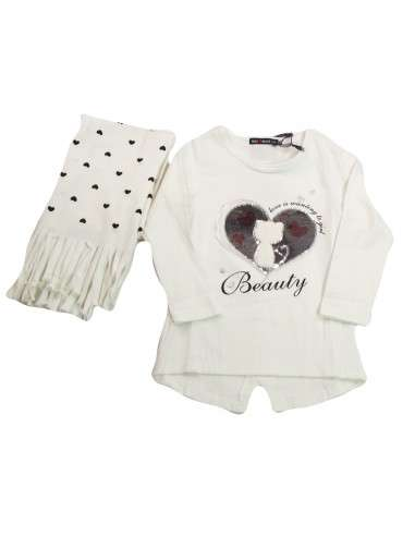 Comprar ropa bebe Camiseta manga larga dibujo reversible niña