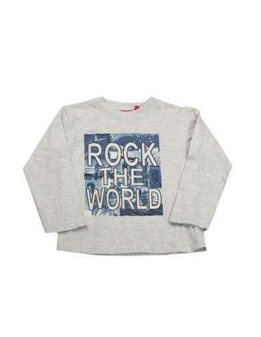 Comprar ropa bebe Camiseta manga larga rock niño