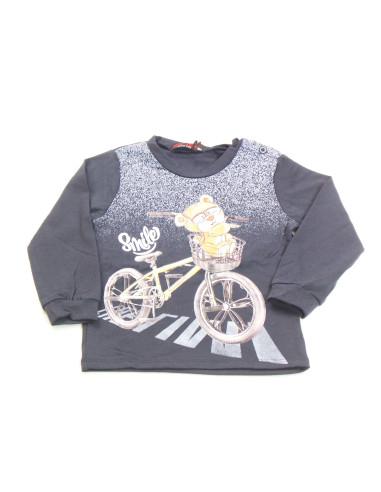 Ropa para bebe Camiseta manga larga bici bebé niño