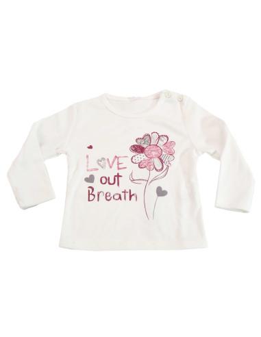 Ropa para bebe Camiseta manga larga flor bebé niña