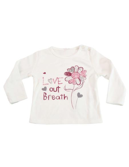 Comprar ropa bebe Camiseta manga larga flor bebé niña