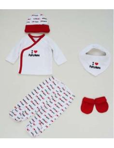 Comprar ropa bebe Caja regalo rojo primera puesta