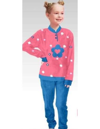 Comprar ropa bebe Pijama manga larga flor niña
