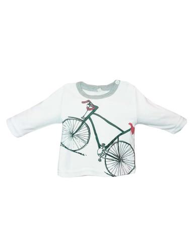 Ropa para bebe Camiseta manga larga bicicleta bebé niño