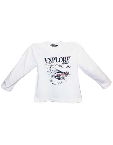 Comprar ropa bebe Camiseta manga larga avión bebé niño