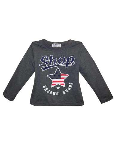 Ropa para bebe Camiseta manga larga estrella bebé niño