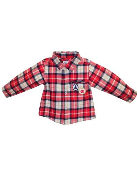 Comprar ropa bebe Camisa manga larga cuadros bebé niño