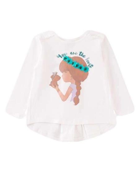 Comprar ropa bebe Camiseta manga larga con lazo niña