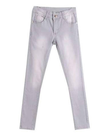 Comprar ropa bebe Pantalón largo vaquero gris niña