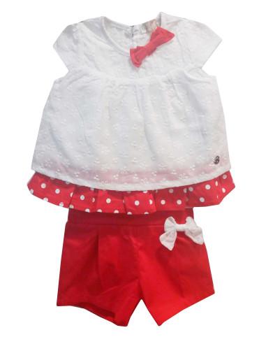 Ropa para bebe Conjunto shorts y blusa bebé niña