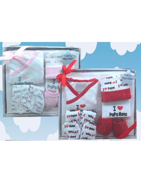 Comprar ropa bebe Caja regalo rosa primera puesta