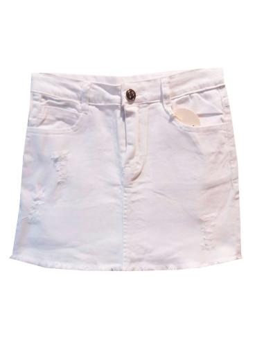 Comprar ropa bebe Falda corta blanca niña