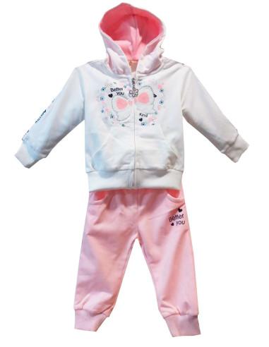 Comprar ropa bebe Conjunto manga larga fino capucha para bebé niña