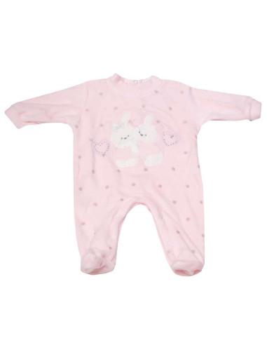 Ropa para bebe Pijama largo tundosado conejos bebé niña