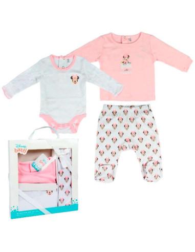Comprar ropa bebe Cajita regalo tres piezas minnie bebé niña