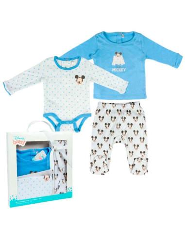 Comprar ropa bebe Caja regalo 3 piezas mickey bebé niño