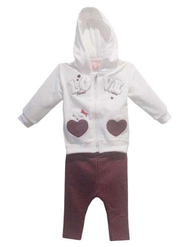 Comprar ropa bebe Conjunto corazones bebé niña