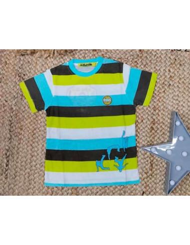 Ropa para bebe Camiseta manga corta rayas gruesas niño
