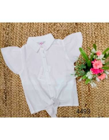 Ropa para bebe Blusa manga corta con nudo niña