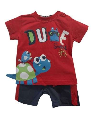 Ropa para bebe Conjunto manga corta tortuga bebé niño