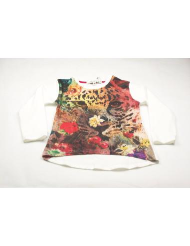 Ropa para bebe Camiseta manga larga leopardo niña