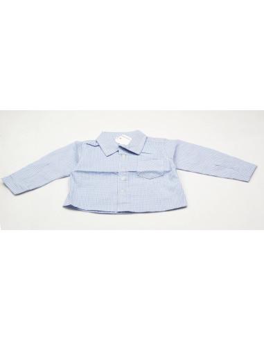 Ropa para bebe Camisa manga larga cuadritos bebé niño