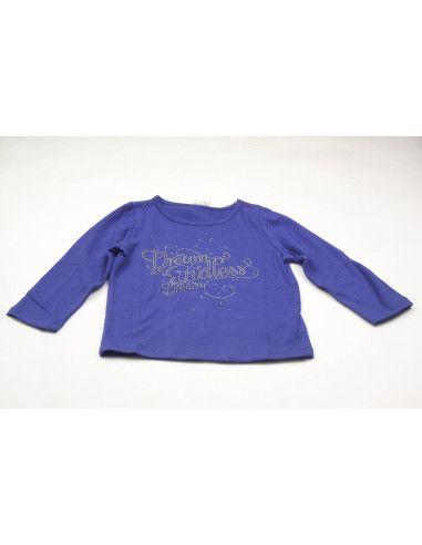 Ropa para bebe Camiseta manga larga azulón niña