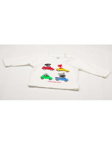 Ropa para bebe Camiseta manga larga coches bebé niño