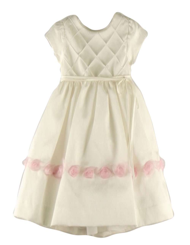 Ropa para bebe Vestido ceremonia crudo bebé niña