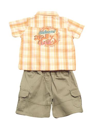 Ropa para bebe Conjunto camisa cuadros manga corta bebé niño