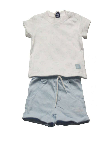Ropa para bebe Conjunto manga corta camiseta pececitos bebé niño