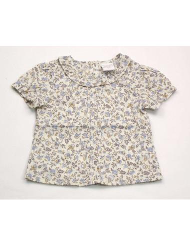 Ropa para bebe Blusa manga corta florecitas bebé niña