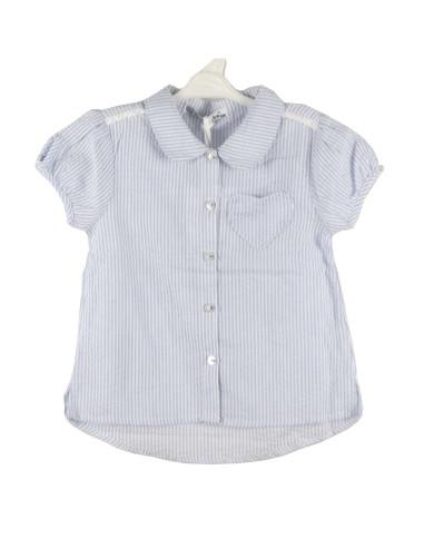 Ropa para bebe Blusa manga corta rayas finas bebé niña