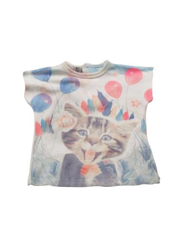 Ropa para bebe Camiseta manga corta gatito bebé niña