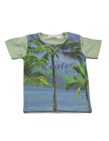 Ropa para bebe Camiseta manga corta paraiso bebé niño