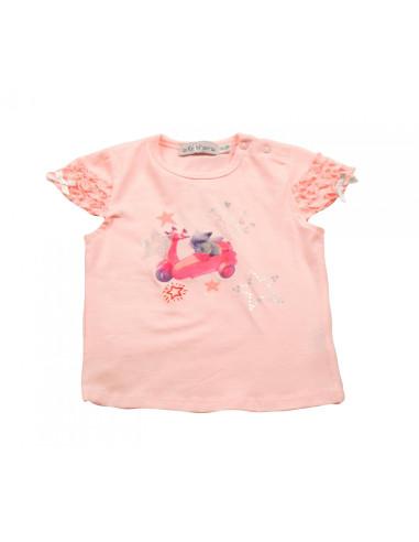 Ropa para bebe Camiseta vespa bebé niña