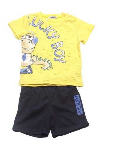 Ropa para bebe Conjunto camiseta manga corta amarillo bebé niño