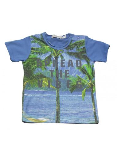 Ropa para bebe Camiseta manga corta palmeras bebé niño