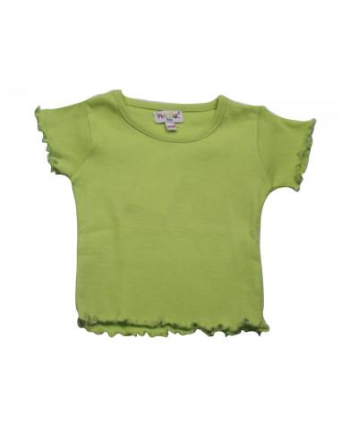Ropa para bebe Camiseta básica verde limón bebé niña