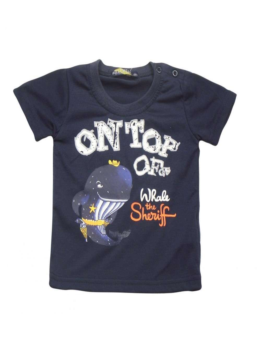 Ropa para bebe Camiseta manga corta ballena bebé niño