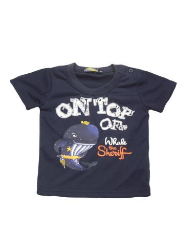 Comprar ropa bebe Camiseta manga corta ballena bebé niño